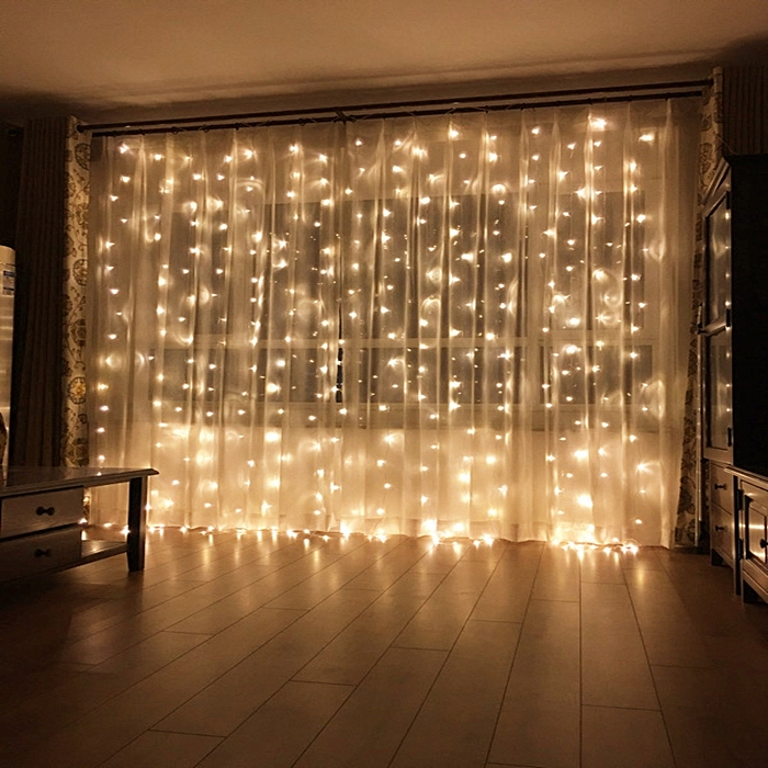 Beautiful curtain light, string light